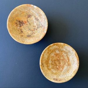 Natural Stone Candle Holder Plates/ A set of 2